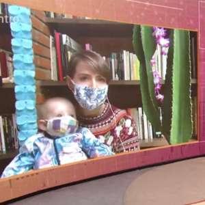 Leticia Colin toma susto após alerta sobre máscara no filho
