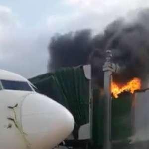 Incêndio atinge ponte de embarque do aeroporto de São Luís