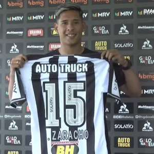 ATLÉTICO-MG: Zaracho é apresentado e veste camisa 15 no Galo