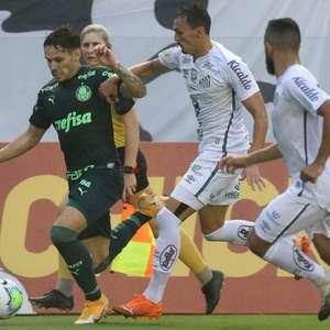 As chances de título de Palmeiras e Santos na Libertadores