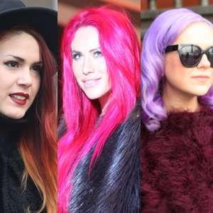 Divertidas! Fashionistas 'desfilam' cabelos coloridos em NY