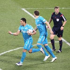 Hulk e Mauricio marcam, e Zenit goleia o Spartak Moscou