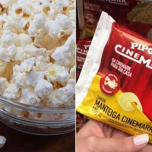 Cinemark lança linha de pipocas de supermercado
