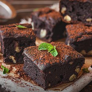 Brownie de chocolate meio amargo no micro-ondas