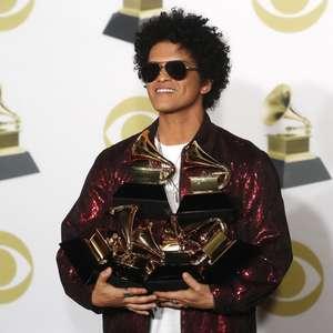 Bruno Mars é grande vencedor do Grammy com 6 prêmios