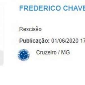Rescisão de Fred com Cruzeiro é publicada no BID