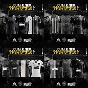 """Galo seleciona 13 modelos de camisas no concurso """"Manto da Massa"""" para votação popular até 7 de junho"""