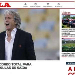 Jornais europeus repercutem notícia de renovação de Jorge Jesus com o Flamengo