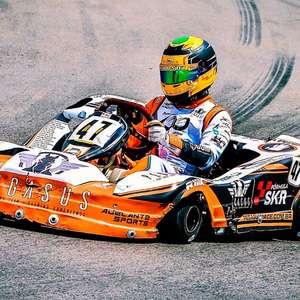 Kartista amador se prepara para o retorno às pistas