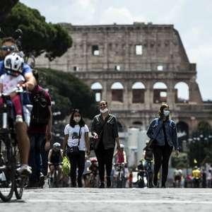 Casos ativos de Covid na Itália caem para menos de 40 mil