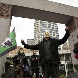'Anonymous' ressurge em meio a protestos