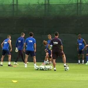 Messi não treina com grupo, mas informação é de que não há lesão