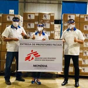 Médicos Sem Fronteiras recebe doação de protetores faciais produzidos pela Mondial Eletrodomésticos