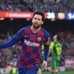 Após nova ausência em treino, Barça diz que Messi está com contratura no quadríceps da perna direita