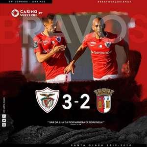 Pelo Campeonato Português, Braga perde para o Santa Clara