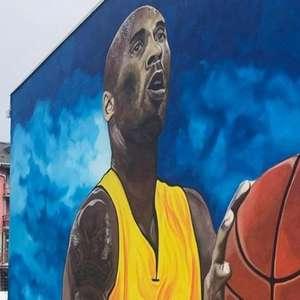 Kobe recebe homenagem na Bósnia e mural é o maior da Europa