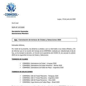 Conmebol cancela Libertadores feminina, de futsal e ...