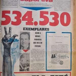 Meio milhão de exemplares do jornal A Gazeta Esportiva ...