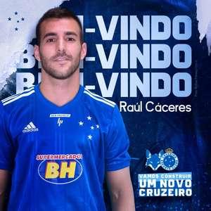 Diretoria do Cruzeiro anuncia a contratação de Raúl Caceres