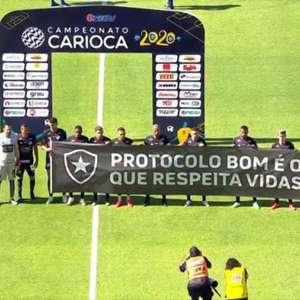 Botafogo goleia a Cabofriense após protesto contra retorno