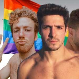 Jovens galãs se assumem gays no mês do orgulho LGBTQIA+