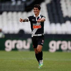"""Germán Cano avalia volta do Vasco: """"Mereceu nota 8"""""""