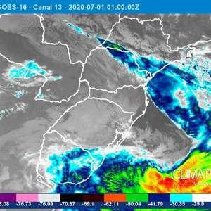 Ventania ciclônica no Sul e no Sudeste