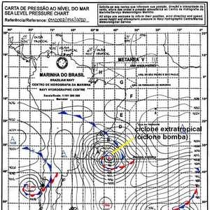 Onde está o ciclone bomba hoje?