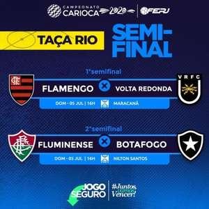 Ferj divulga datas e horários para as semifinais da Taça Rio