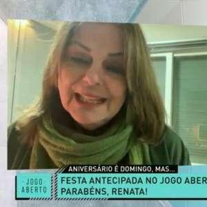 Renata Fan chora com homenagem da mãe no 'Jogo Aberto'