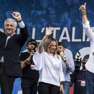 Salvini lidera manifestação contra governo italiano em Roma
