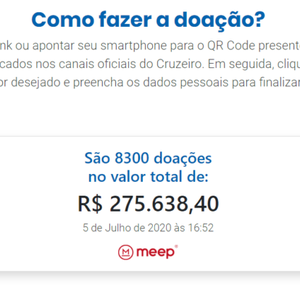 Cruzeiro passa 8 mil doações em vaquinha online para ...