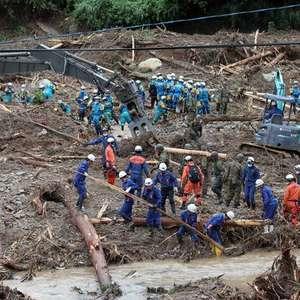 Mais de 40 pessoas morrem após inundações no Japão