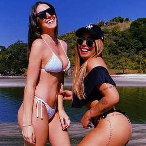 Rafaella posta foto na praia com amigas e Neymar elogia: 'Gatonas'