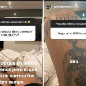 Chileno Vargas posta mensagem carinhosa para Sampaoli e diz que aceitaria jogar no Atlético-MG