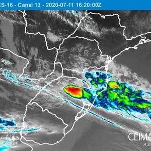 Fim de semana com chuva no Sul do Brasil