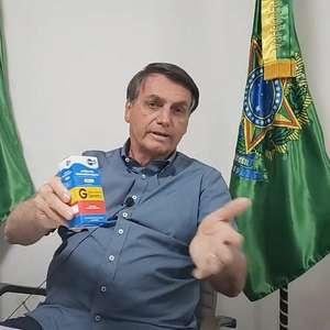 Bolsonaro a defende hidroxicloroquina e ataca a Globo