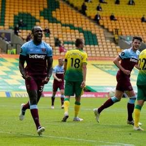 Com quatro gols de Michail Antonio, West Ham vence e ...