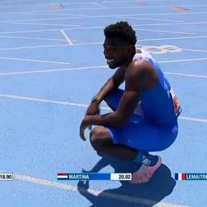 Velocista faz tempo menor do que recorde de Bolt mas ...