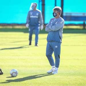Renato Gaúcho comanda o seu primeiro treino no CT do Grêmio