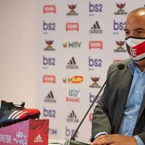 Marcos Braz e Bruno Henrique ironizam notícia de TV portuguesa: 'Avisa a eles que é gelo no sangue'
