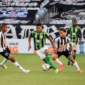 Atlético-MG joga bem, derrota o América-MG e fica a um empate da final do Campeonato Mineiro