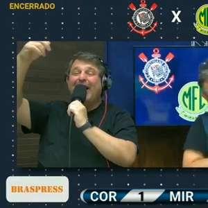 Neto solta o grito com gol do Corinthians e assusta ...