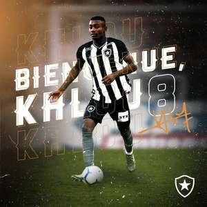 """Kalou volta a exaltar Botafogo: """"Vou jogar no clube em que o Garrincha jogou"""""""