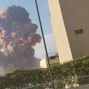 Megaexplosão lança 'nuvem cogumelo' no céu de Beirute, ...