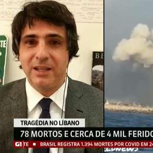 Guga Chacra se emociona ao comentar tragédia em Beirute