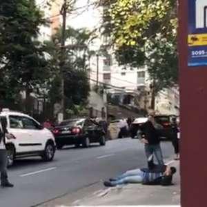 Wajngarten reage a assalto e corre armado atrás de suspeito
