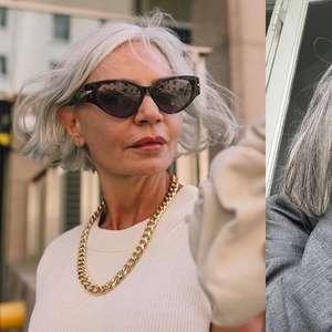 8 influenciadoras que te farão olhar o cabelo grisalho de outro jeito