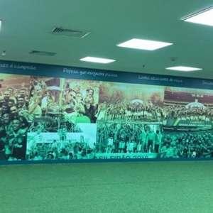 Palmeiras 'envelopa' vestiário do visitante para receber ...
