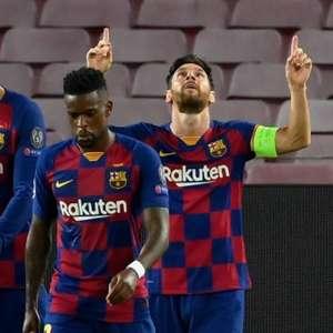 Barcelona domina a partida e elimina o Napoli da Champions